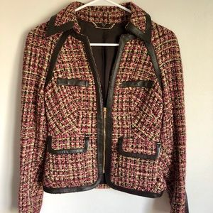 Bebe wool Moro jacket with pockets